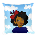 "Adorned By Chi Default Title ""Little Kiki"" Kiki's Delivery Service Inspired Throw Pillow"