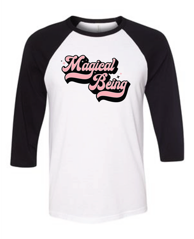 Adorned by Chi Magical Being Unisex Raglan T-Shirt