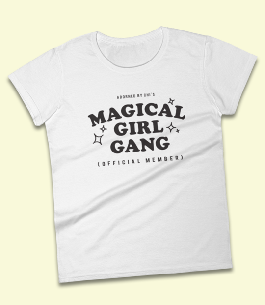 "Adorned By Chi ""Magical Girl Gang: Official Member"" Women's short sleeve t-shirt (MORE COLORS)"