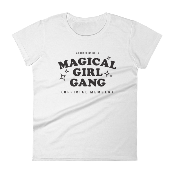 "Adorned By Chi White / S ""Magical Girl Gang: Official Member"" Women's short sleeve t-shirt (MORE COLORS)"