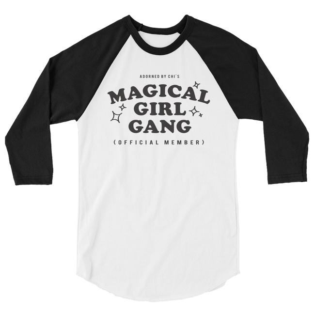 "Adorned By Chi XS ""Magical Girl Gang"" Unisex baseball tee"