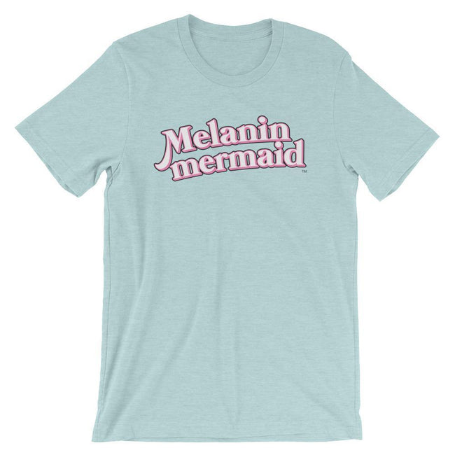 "Adorned By Chi Heather Prism Ice Blue / XS ""Melanin Mermaid"" Short-Sleeve Unisex T-Shirt"