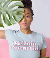 """Melanin Mermaid"" Short-Sleeve Unisex T-Shirt"