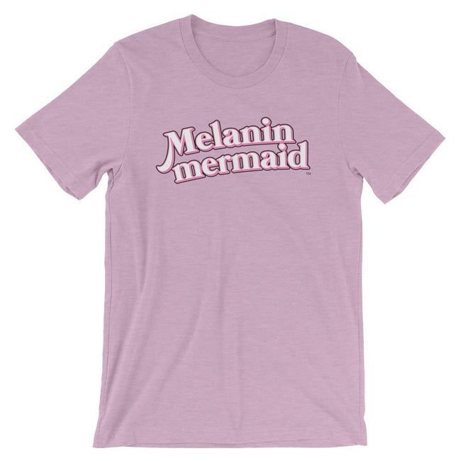 "Adorned By Chi Heather Prism Lilac / XS ""Melanin Mermaid"" Short-Sleeve Unisex T-Shirt"