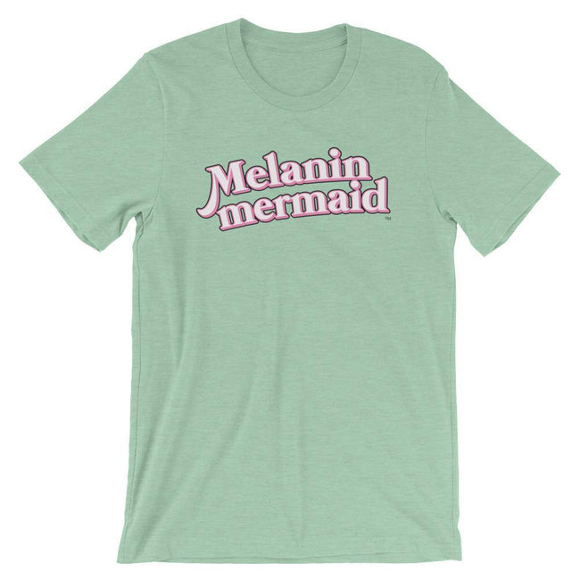 "Adorned By Chi Heather Prism Mint / XS ""Melanin Mermaid"" Short-Sleeve Unisex T-Shirt"