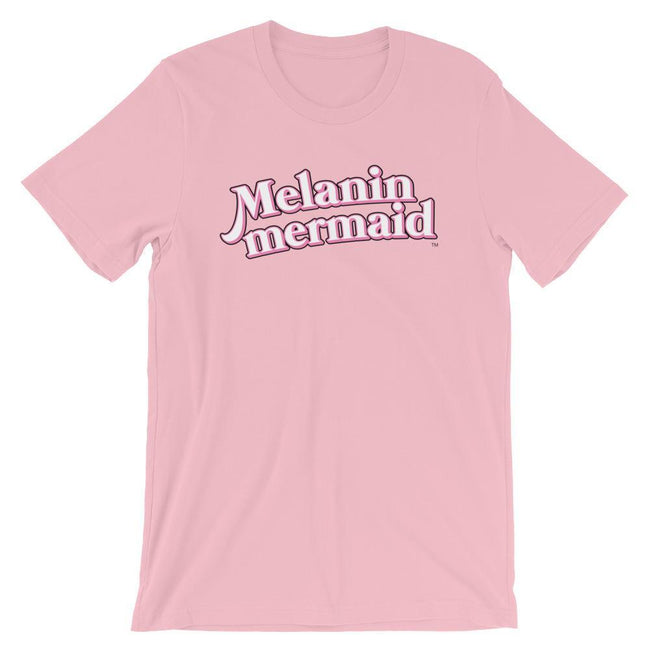 "Adorned By Chi Pink / S ""Melanin Mermaid"" Short-Sleeve Unisex T-Shirt"
