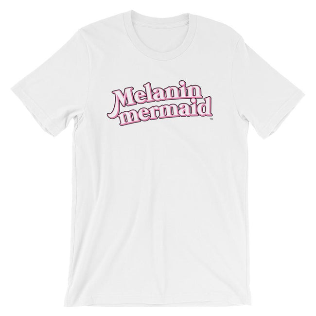 "Adorned By Chi White / XS ""Melanin Mermaid"" Short-Sleeve Unisex T-Shirt"