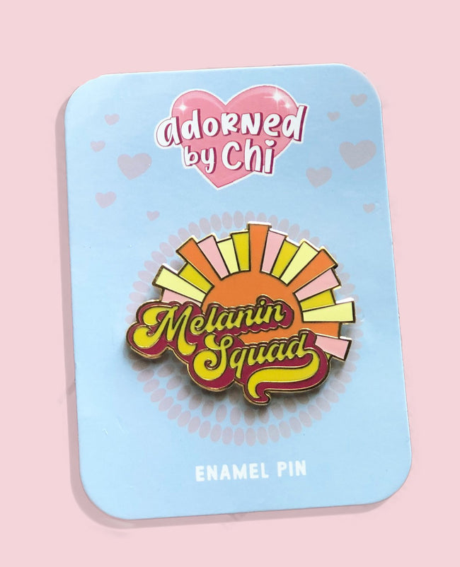 "Adorned by Chi 1.75""W Melanin Squad Hard Enamel Pin"