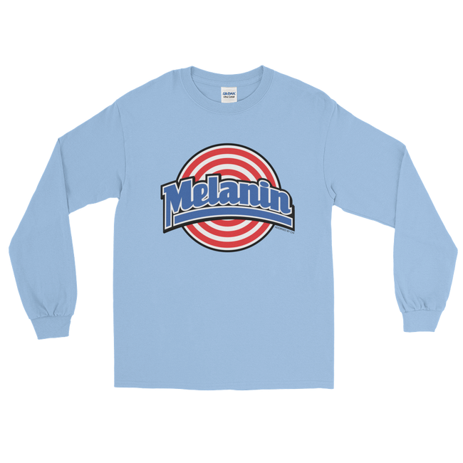 "Adorned By Chi Light Blue / S ""Melanin Squad"" Unisex Long Sleeve T-Shirt (more colors)"
