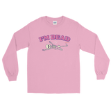 "Adorned By Chi Light Pink / S Miles Jai ""I'm Dead"" Unisex Long Sleeve T-Shirt (more colors)"
