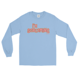 "Adorned By Chi Light Blue / S Miles Jai ""I'm Screaming"" Long Sleeve Unisex T-Shirt (more colors)"