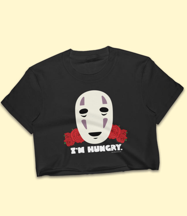 "Adorned By Chi No Face inspired ""I'm Hungry"" Women's Crop Top"