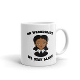 """On Wednesdays We Stay Black"" Mug"