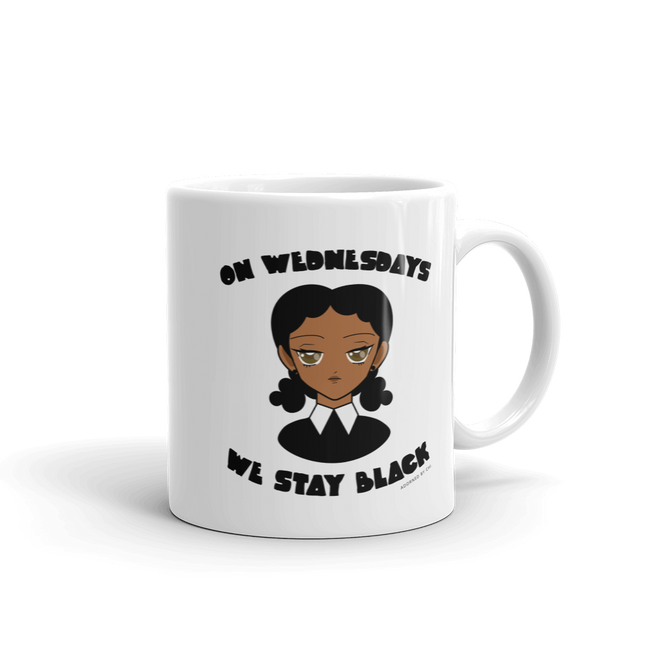 "Adorned By Chi 11oz ""On Wednesdays We Stay Black"" Mug"