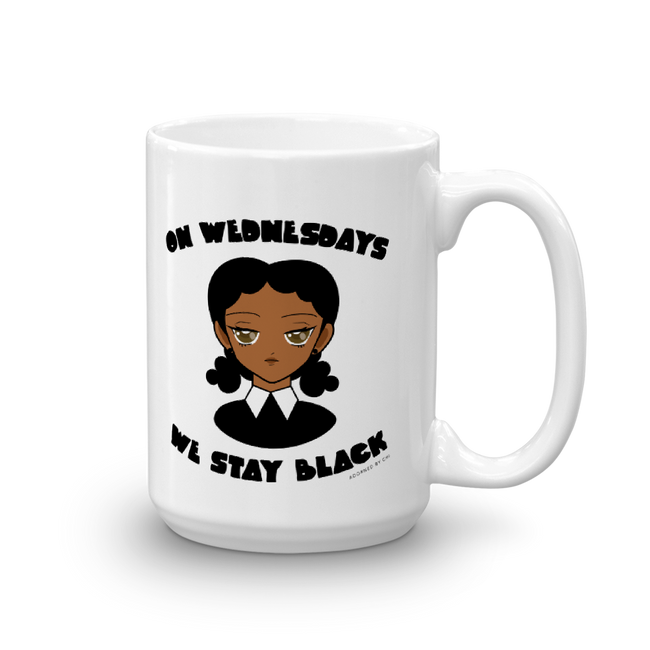 "Adorned By Chi 15oz ""On Wednesdays We Stay Black"" Mug"