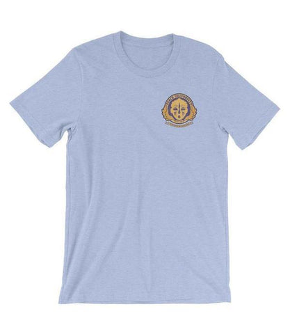 Adorned By Chi Peace University Pocket Emblem Short-Sleeve Unisex T-Shirt