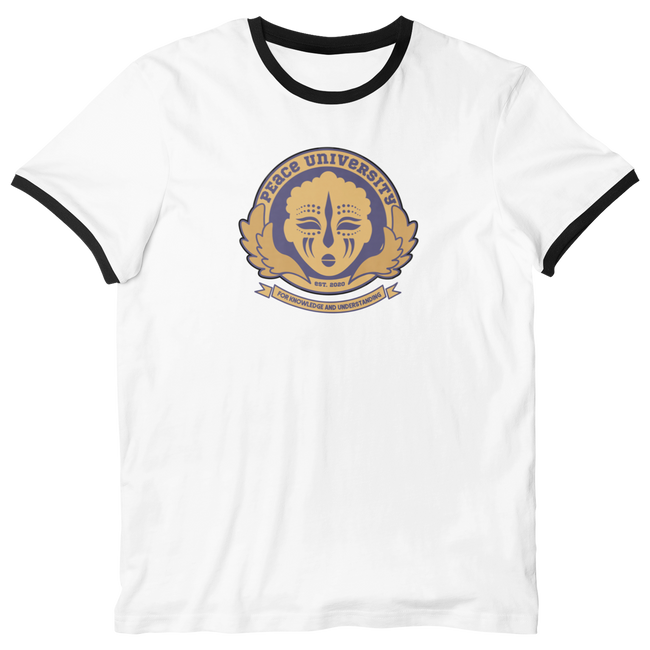 Adorned by Chi Peace University Unisex Ringer T-Shirt