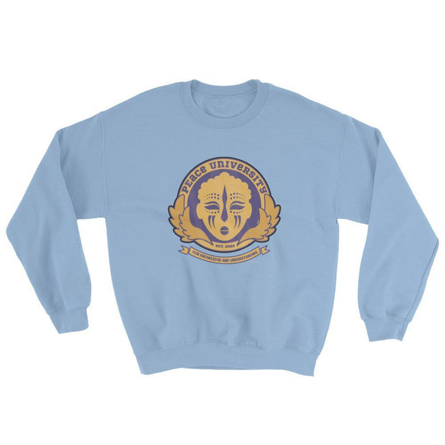 "Adorned By Chi Light Blue / S ""Peace University"" Unisex Sweatshirt"
