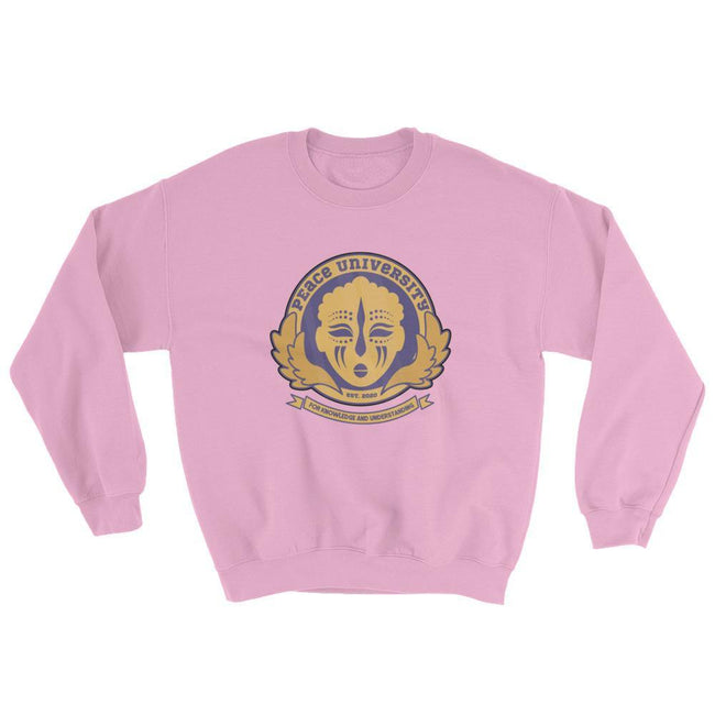 "Adorned By Chi Light Pink / S ""Peace University"" Unisex Sweatshirt"