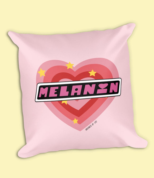 "Adorned By Chi ""PPG Melanin"" Square Pillow"