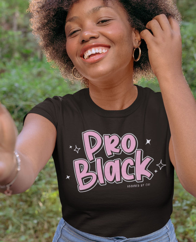 Adorned by Chi Small Pro Black Unisex Short-Sleeve T-Shirt