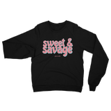 "Adorned By Chi XS ""Sweet & Savage"" Black Unisex Raglan sweater"