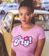 """Totally Fly!"" Spies Women's Scoopneck T-Shirt"