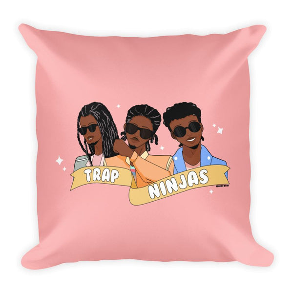"Adorned By Chi Default Title ""Trap Ninjas"" Cute Anime Inspired Pillow"