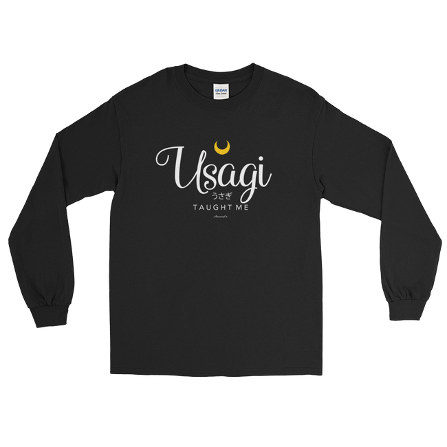 "Adorned By Chi Black / S ""Usagi Taught Me"" Long Sleeve Unisex T-Shirt"