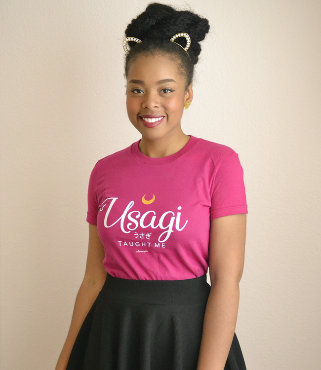 "Adorned By Chi ""Usagi Taught Me"" Short sleeve women's t-shirt (More Colors)"