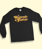 "Adorned By Chi ""Wakanda Forever!"" Unisex Long Sleeve T-Shirt (more colors)"