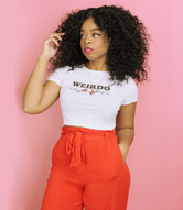 """Weirdo"" Women's Crop Tee"