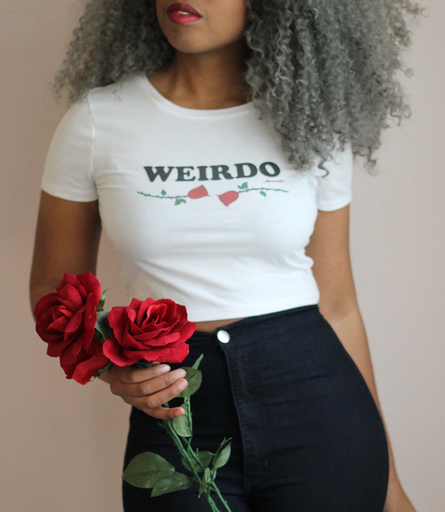 "Adorned By Chi ""Weirdo"" Women's Crop Tee"