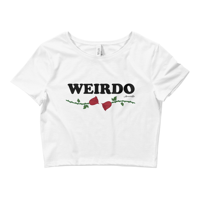 "Adorned By Chi XS/SM ""Weirdo"" Women's Crop Tee"