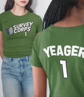 """Yeager Survey Corps Team Jersey"" Short-Sleeve Unisex T-Shirt"