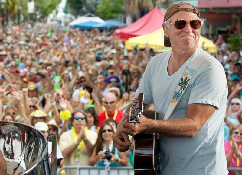 Jimmy Buffett Performing in Key West