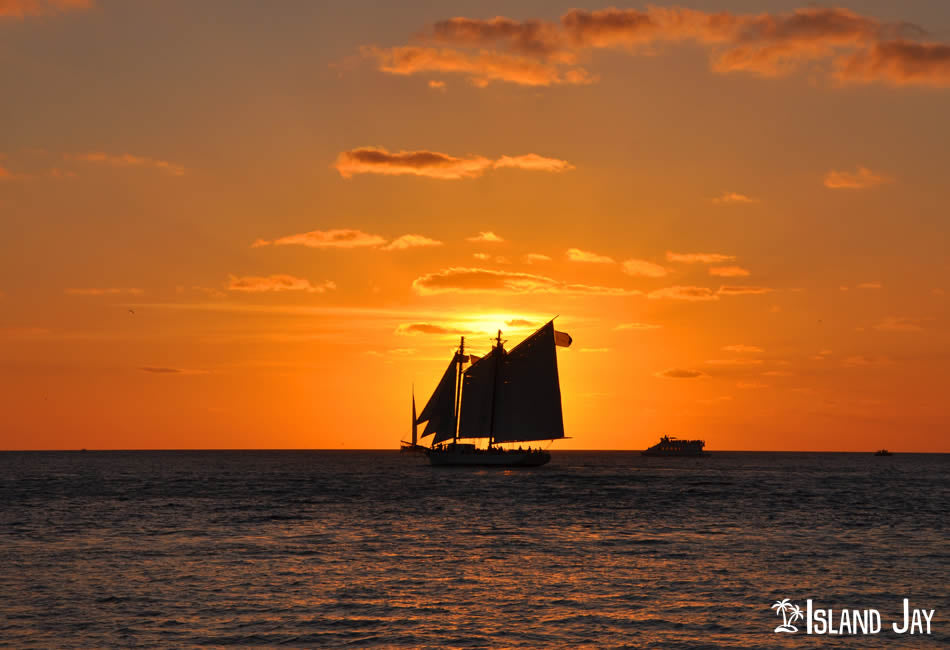 Sailboat in a Key West Sunset