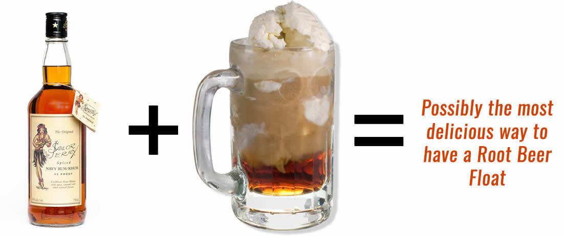 Sailor Jerry Root Beer Float