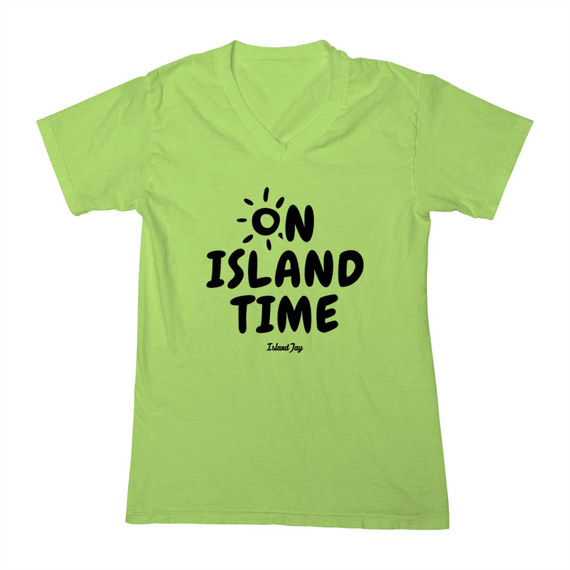 Ladies On Island Time V-Neck