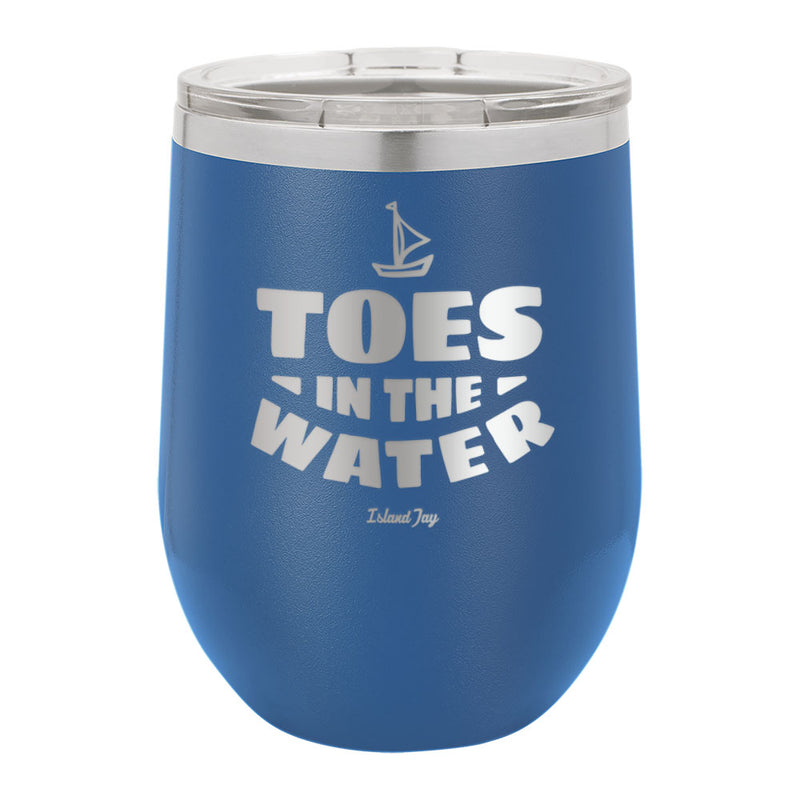 Toes In The Water Laser Engraved Metal Stemless Wine Tumbler