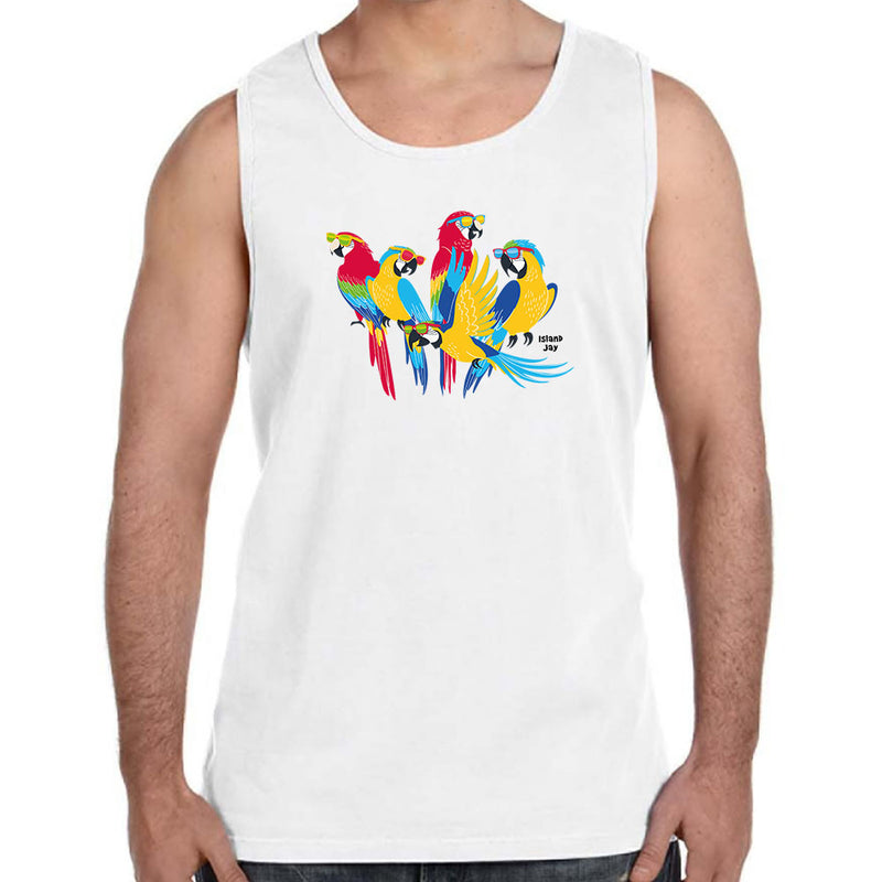 Parrot Sunglasses Tank Top