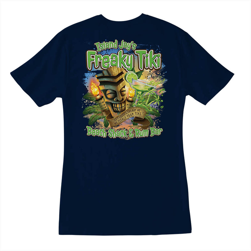 Ladies Island Jay's Freaky Tiki V-Neck T-Shirt