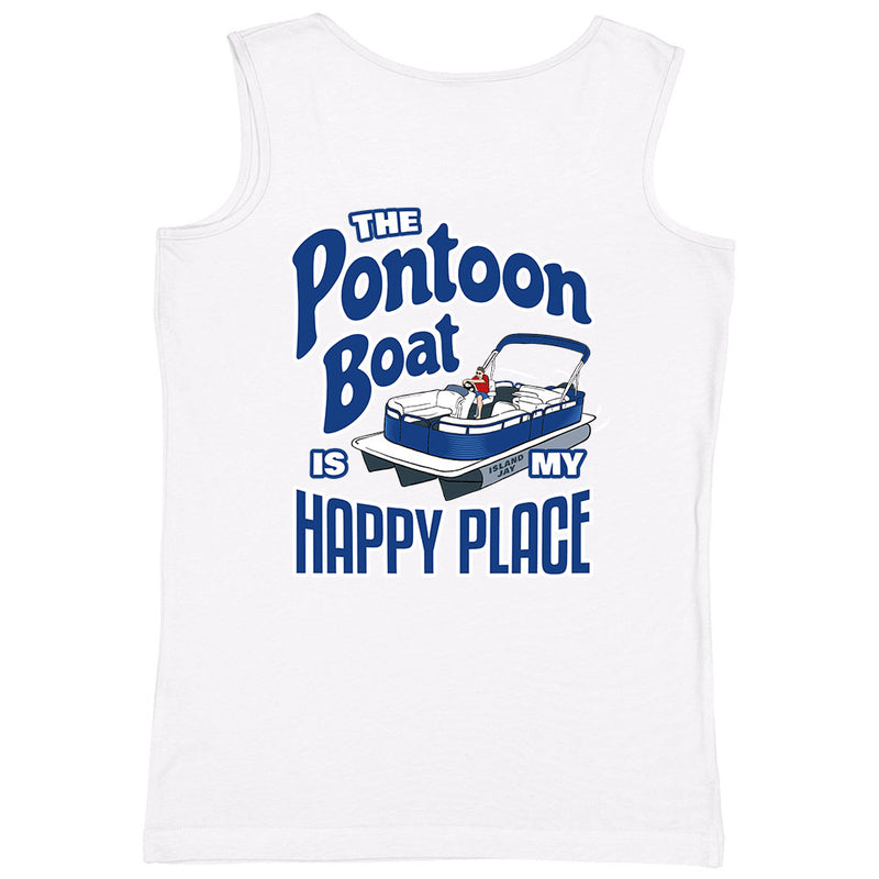 Ladies The Pontoon Boat Is My Happy Place Full Color Tank Top
