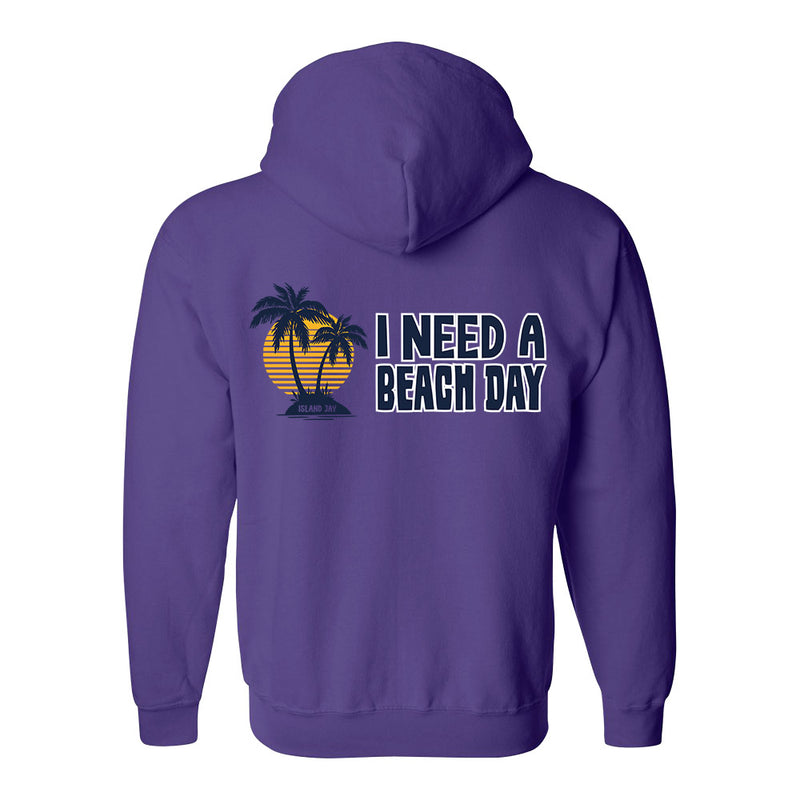 I Need A Beach Day Soft Style Full Zipper Hoodie
