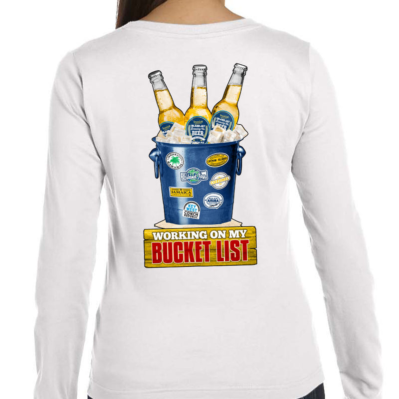 Ladies Working On My Bucket List Long Sleeve T-Shirt