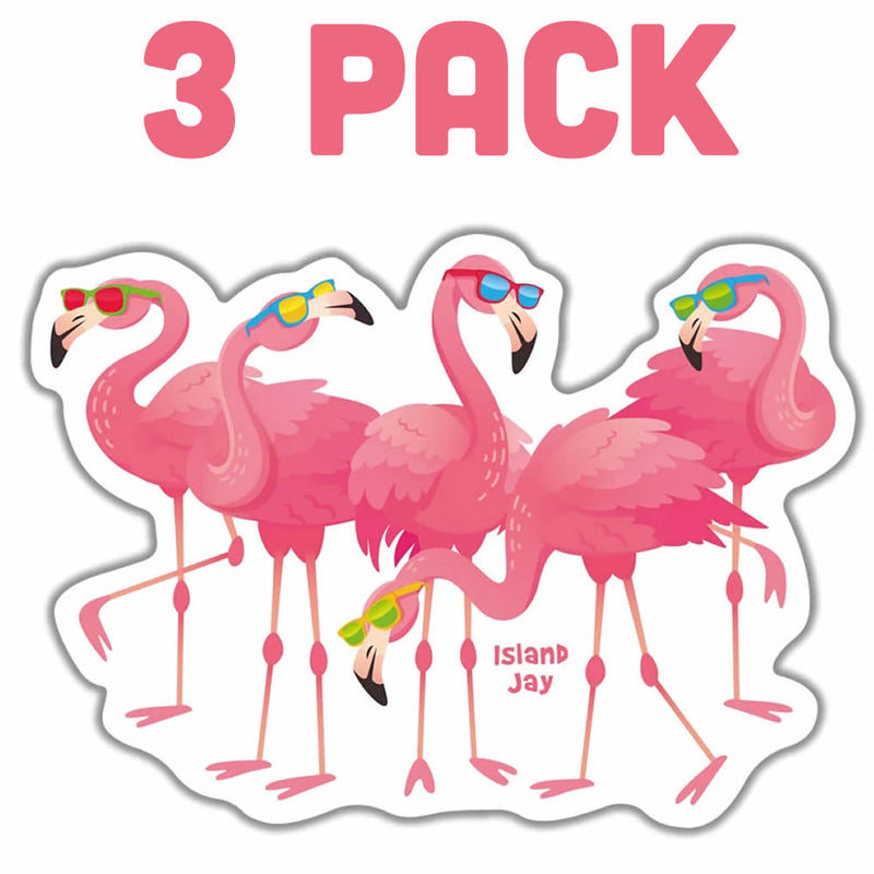 Pink Flamingo With Sunglasses Die Cut Beach Sticker