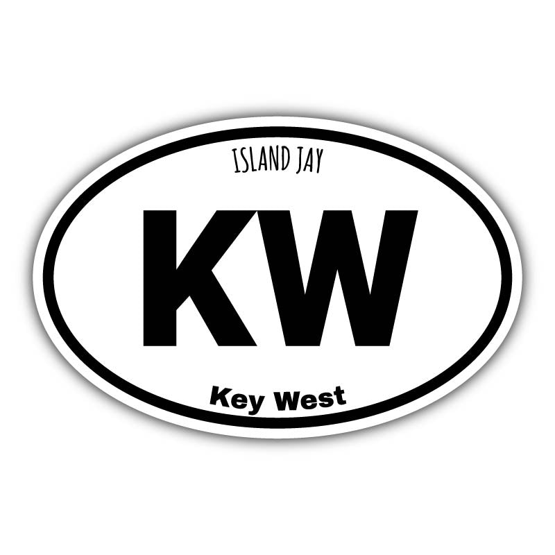 Key West Euro Die Cut Beach Sticker
