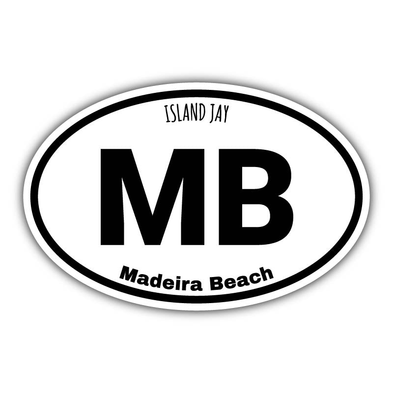 Myrtle Beach Euro Die Cut Beach Sticker