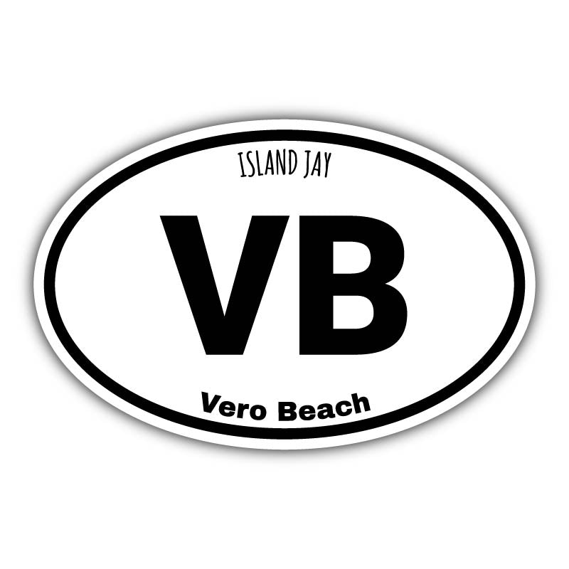Vero Beach Euro Die Cut Beach Sticker
