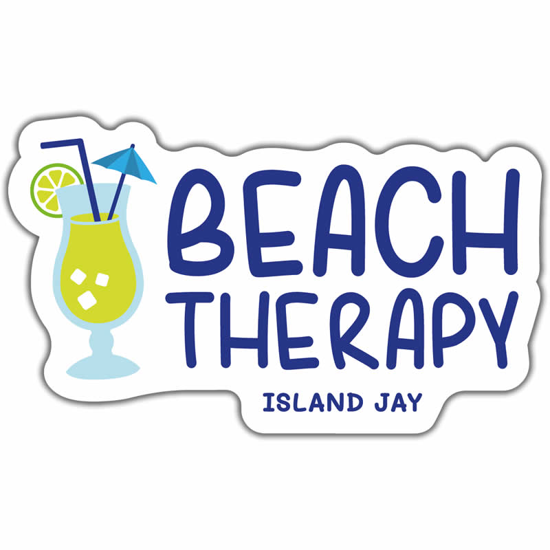"Beach Therapy 4"" Sticker"